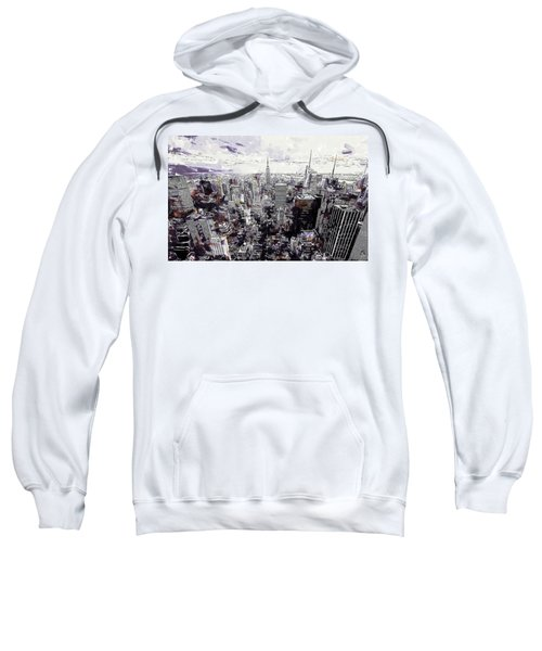 Nyc View From Rockefeller Center Sweatshirt