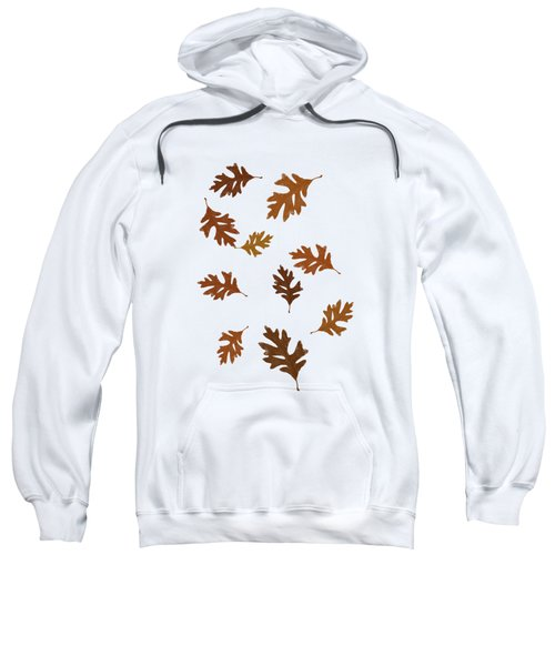 Oak Leaves Art Sweatshirt by Christina Rollo
