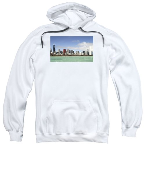 Sweatshirt featuring the photograph Off The Shore Of Chicago by Ricky L Jones