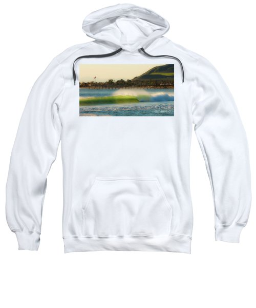 Offshore Wind Wave And Ventura, Ca Pier Sweatshirt