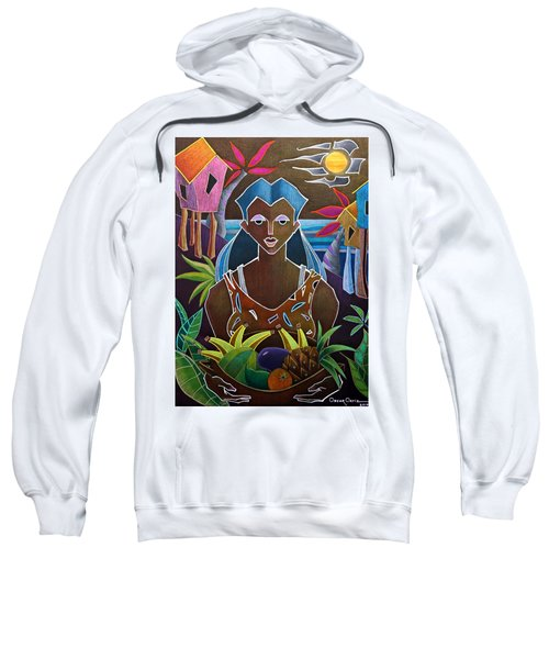 Sweatshirt featuring the painting Ofrendas De Mi Tierra II by Oscar Ortiz