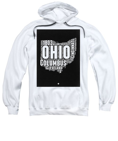 Ohio Black And White Word Cloud Map Sweatshirt