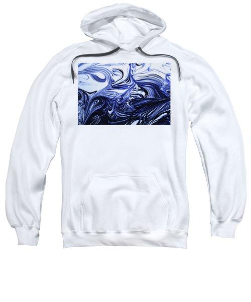 Oil Swirl Blue Droplets Abstract I Sweatshirt