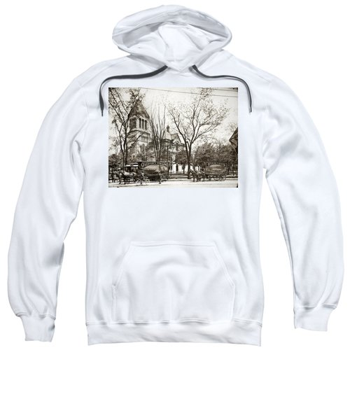 Old Courthouse Public Square Wilkes Barre Pa Late 1800s Sweatshirt