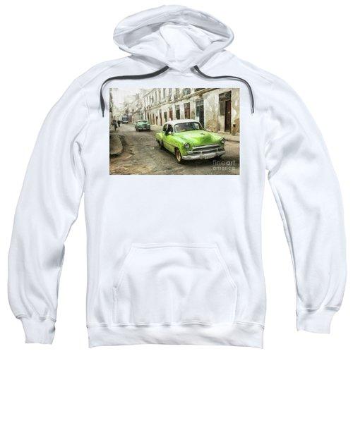Old Green Car Sweatshirt