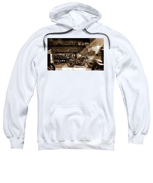 Old Motorcycle Shop Sweatshirt