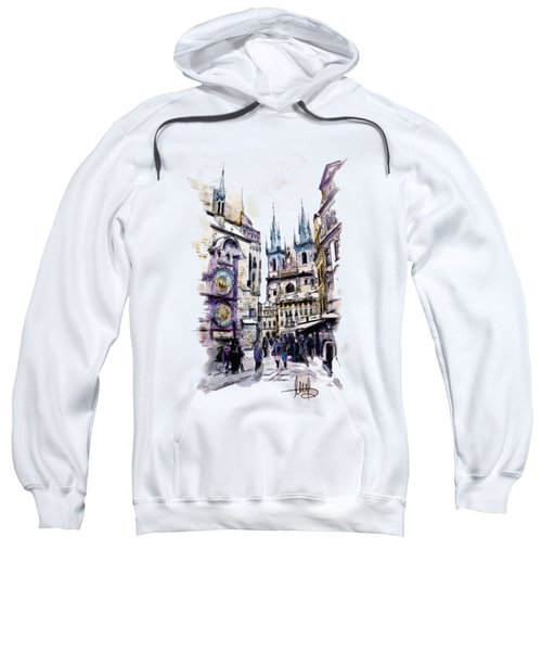 Old Town Square In Prague Sweatshirt