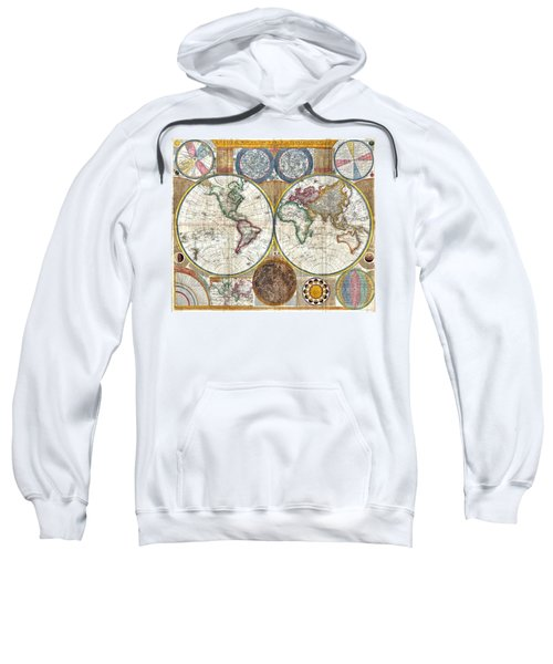 Old World Map Print From 1794 Sweatshirt
