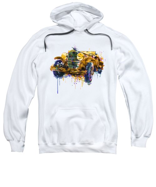 Oldtimer Automobile In Watercolor Sweatshirt