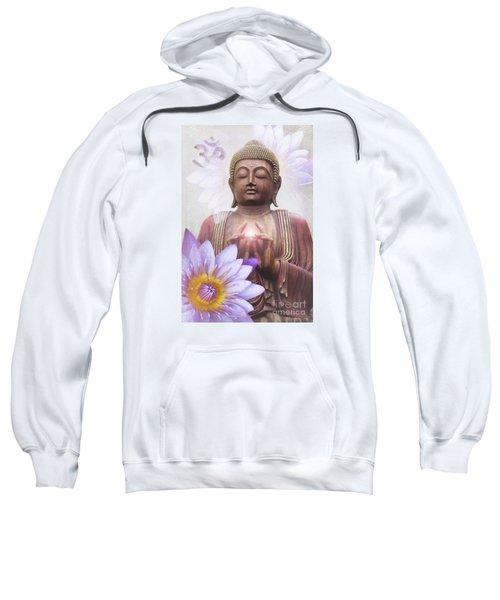 Om Mani Padme Hum - Buddha Lotus Sweatshirt by Sharon Mau
