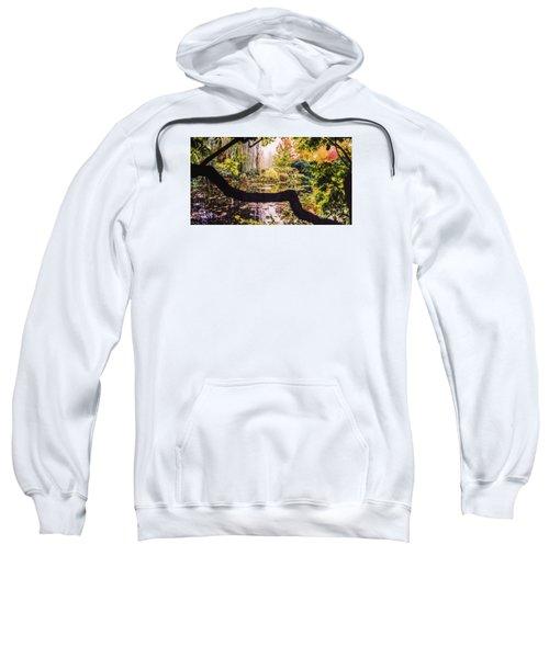 On Oscar - Claude Monet's Garden Pond  Sweatshirt