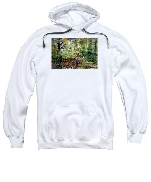 Reflection On, Oscar - Claude Monet's Garden Pond Sweatshirt
