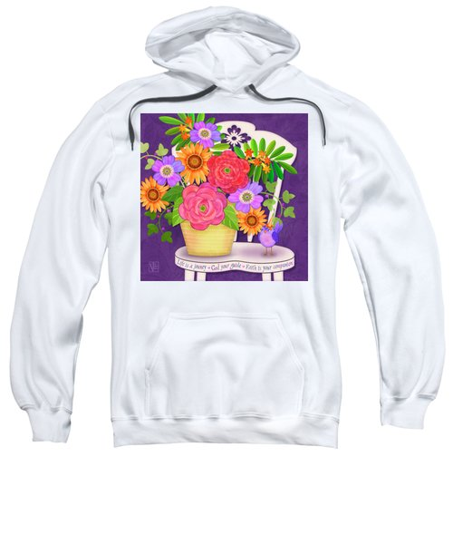 On The Bright Side - Flowers Of Faith Sweatshirt