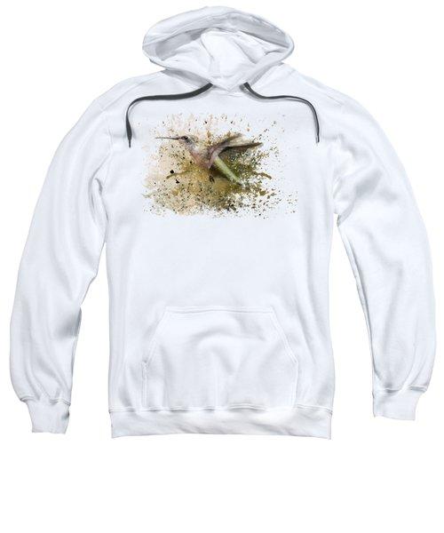 On The Fly Hummingbird Art Sweatshirt