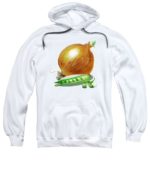 Onion And Peas Sweatshirt by Irina Sztukowski