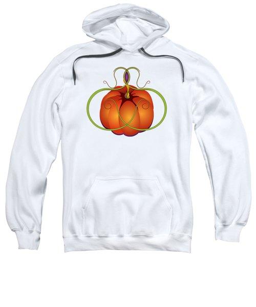 Orange Curvy Autumn Pumpkin Graphic Sweatshirt