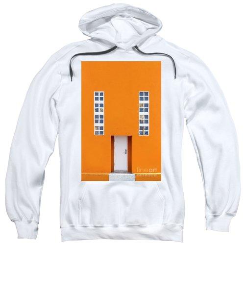 Orange Happy Sweatshirt