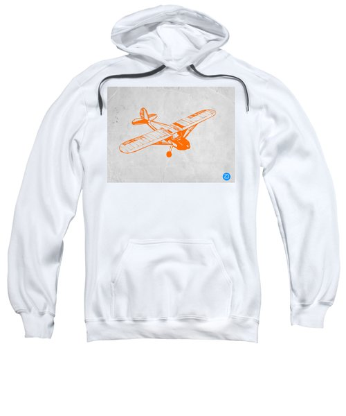 Orange Plane 2 Sweatshirt by Naxart Studio