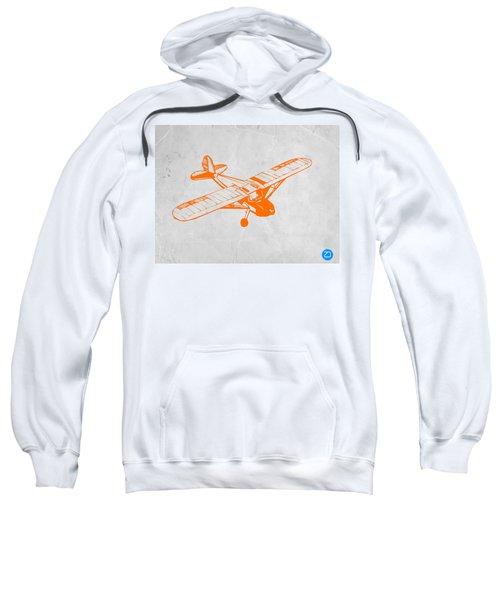 Orange Plane 2 Sweatshirt by Naxart Studio