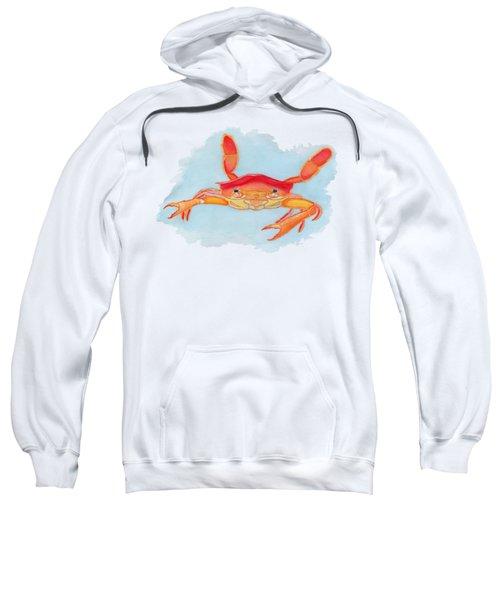 Orange Swimmer Crab Sweatshirt