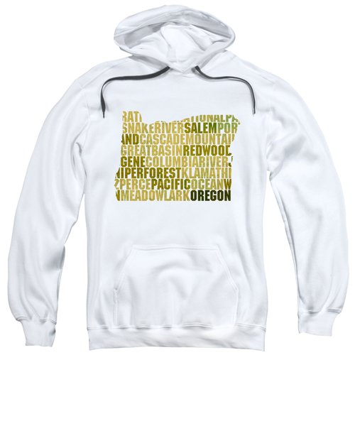 Oregon State Outline Word Map Sweatshirt by Design Turnpike