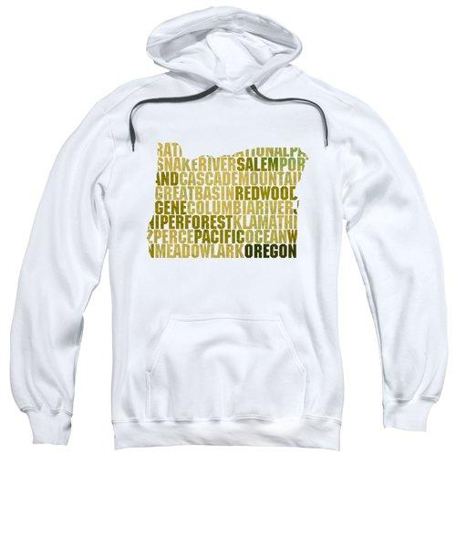 Oregon State Outline Word Map Sweatshirt
