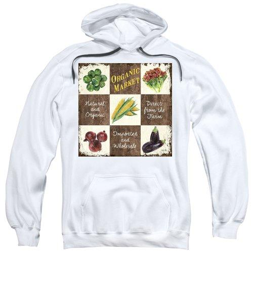 Organic Market Patch Sweatshirt by Debbie DeWitt