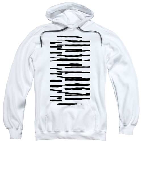 Organic No 13 Black And White Line Abstract Sweatshirt