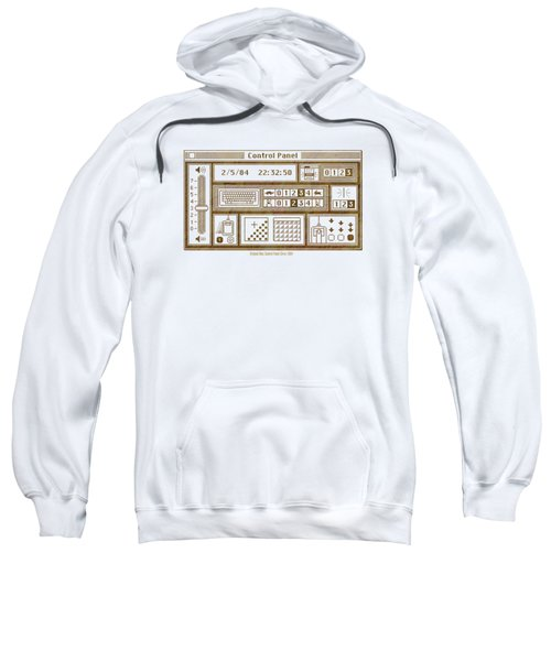 Original Mac Computer Control Panel Circa 1984 Sweatshirt