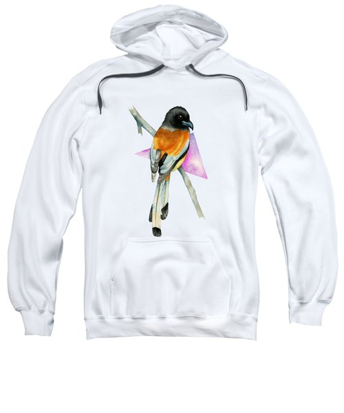 Oriole Bird With Triangle Watercolor Painting Sweatshirt