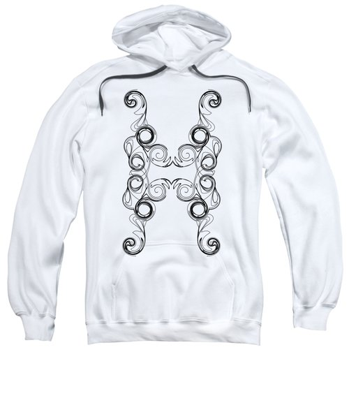 Ornate Curly Color Your Background Sweatshirt