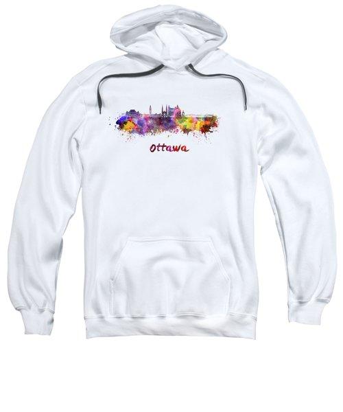 Ottawa V2 Skyline In Watercolor Sweatshirt