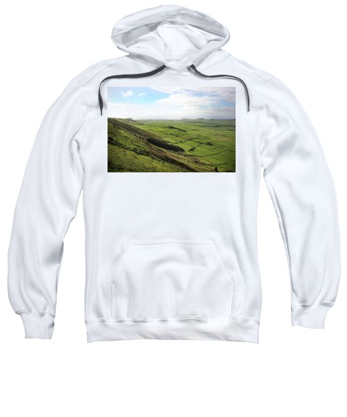 Over The Rim On Terceira Island, The Azores Sweatshirt