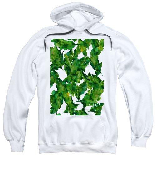 Overlapping Leaves Sweatshirt by Cortney Herron