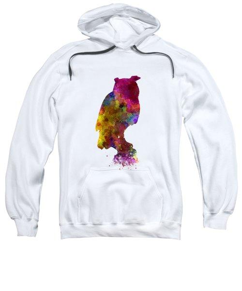 Owl 01 In Watercolor Sweatshirt