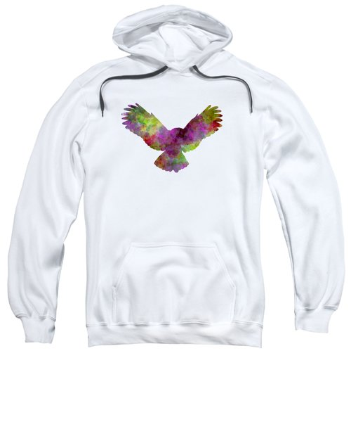 Owl 02 In Watercolor Sweatshirt