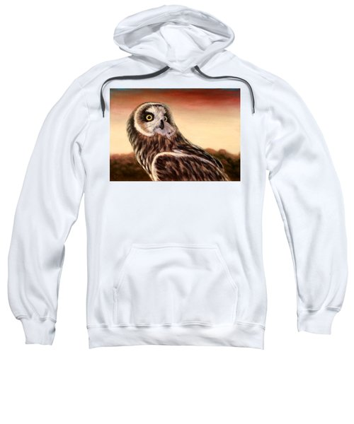 Owl At Sunset Sweatshirt
