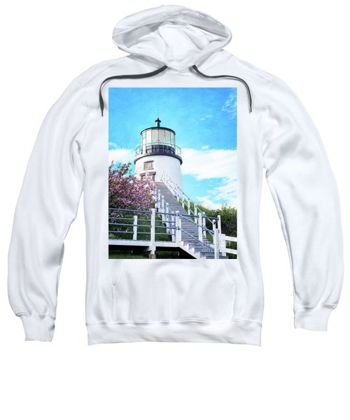 Owl's Head Light In Early June Sweatshirt