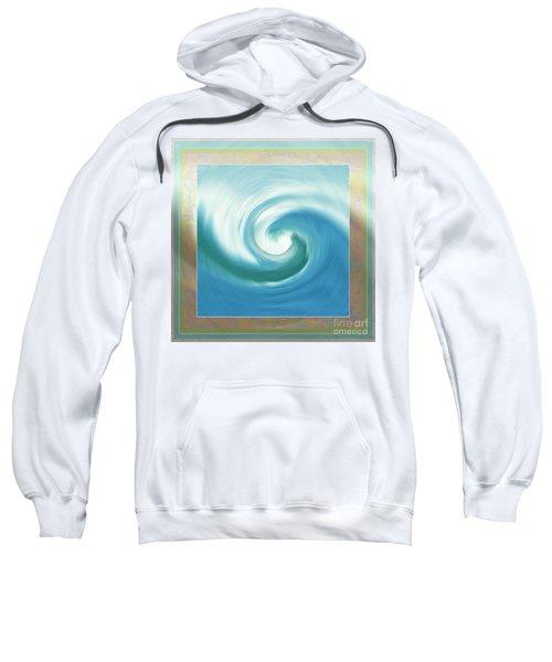 Pacific Swirl With Border Sweatshirt
