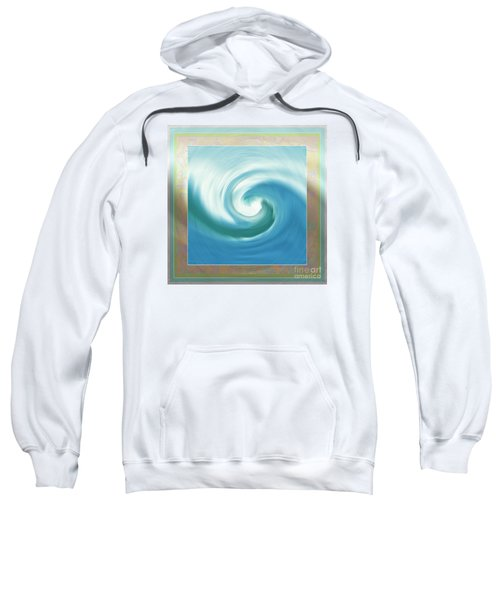 Pacific Swirl With Border Sweatshirt