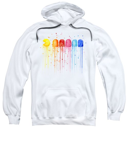 Pacman Watercolor Rainbow Sweatshirt