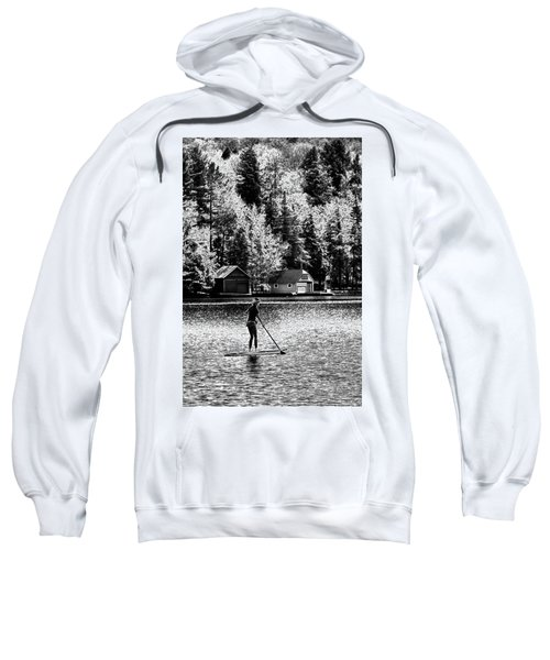 Paddleboarding On Old Forge Pond Sweatshirt