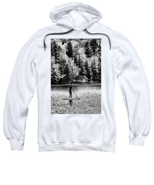 Paddleboarding On Old Forge Pond Sweatshirt