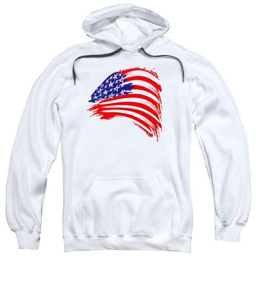 Painted American Flag Sweatshirt