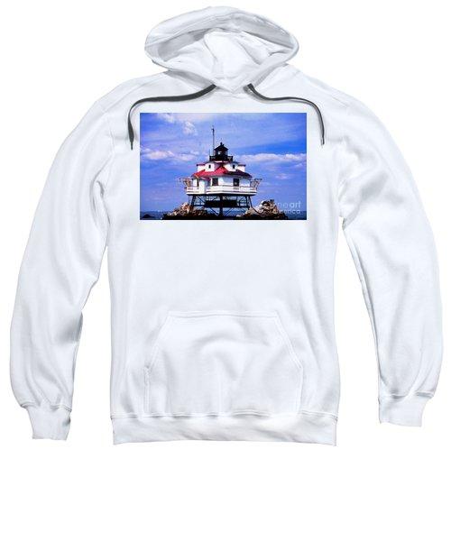 Painted Thomas Point Lighthouse Sweatshirt
