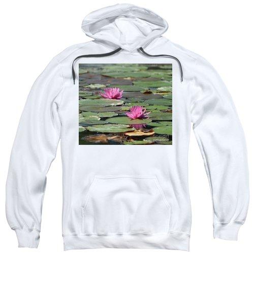 Pair Of Pink Pond Lilies Sweatshirt