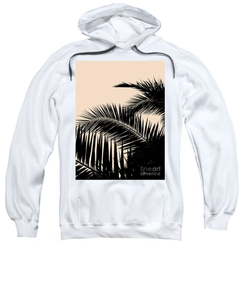 Palms On Pale Pink Sweatshirt