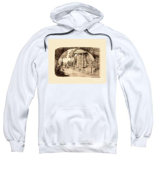 Pan Looking Upon Ruins Sweatshirt