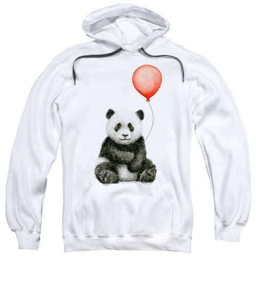 Panda Baby And Red Balloon Nursery Animals Decor Sweatshirt