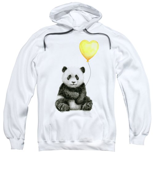Panda Baby With Yellow Balloon Sweatshirt